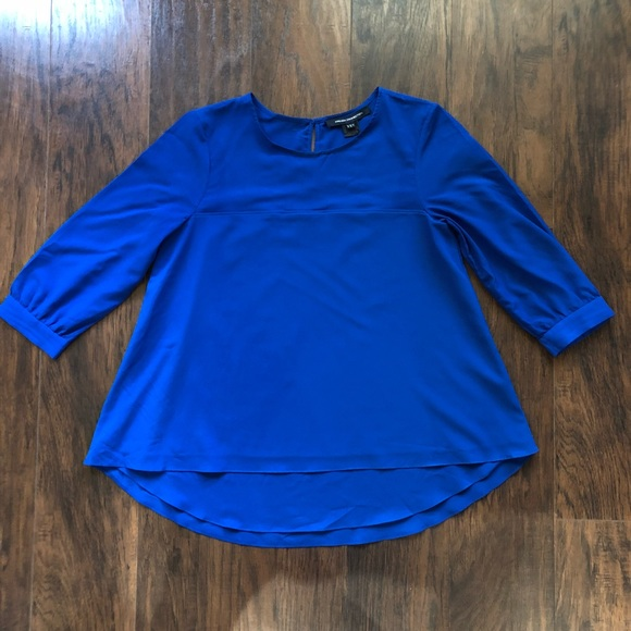 63b36e9499ed3c French Connection Tops - French Connection women's Blouse royal blue size 4